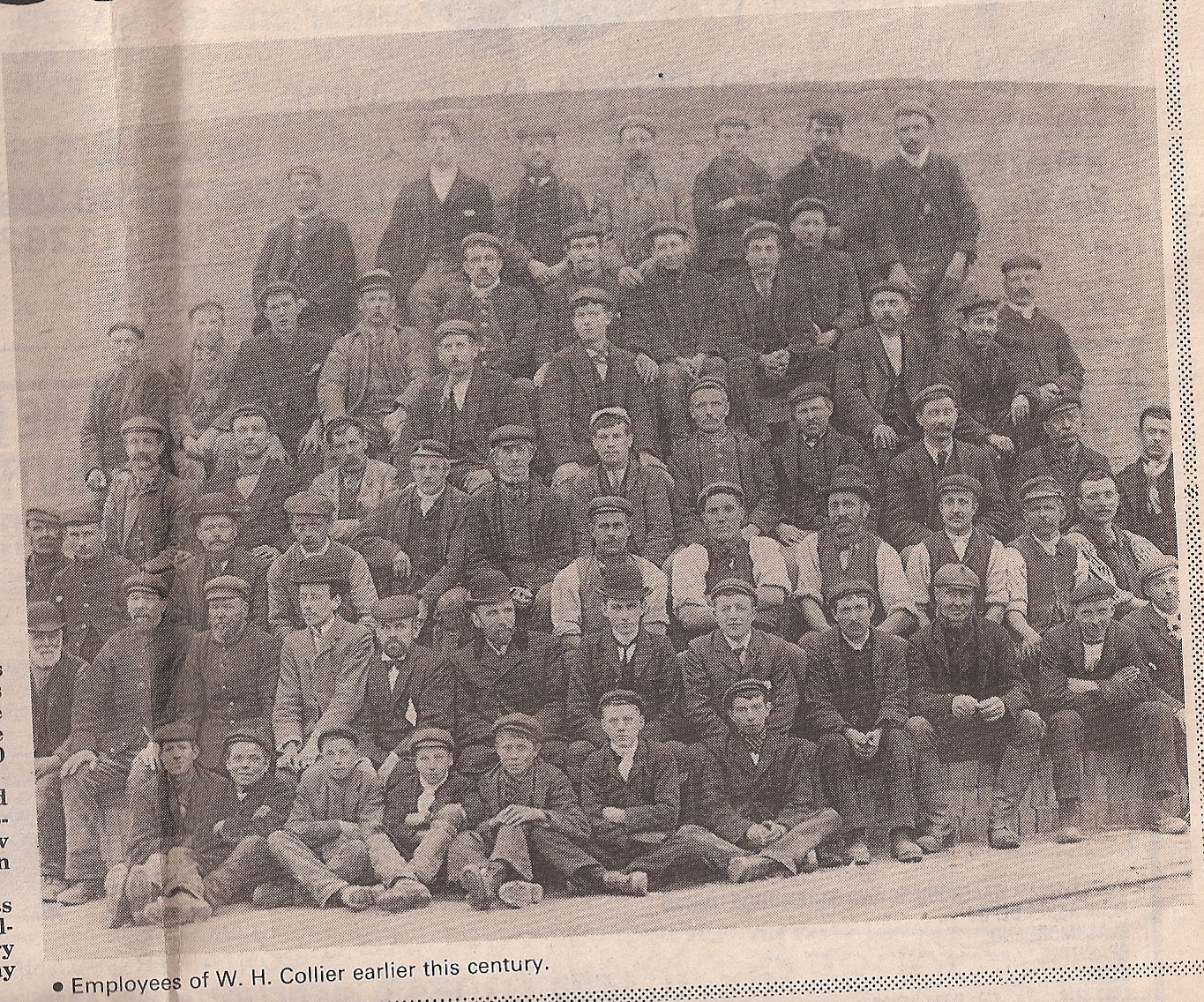 Workers at W H Collier, early 20th Century